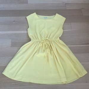 Gap Darcy Dress in bright yellow.
